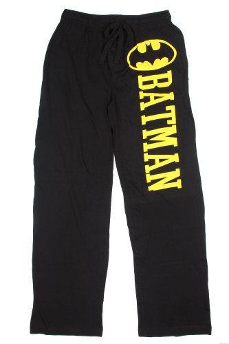 Hot Topic DC Comics Batman Guys Pajama Pants, Black, Large]()
