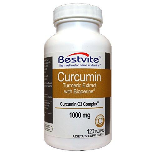 Curcumin 1000mg (Turmeric)(120 Tablets) with Curcumin C3 Complex & Bioperine – Standardized to 95% Cucuminoids