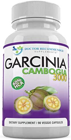 Garcinia Cambogia Capsules-Pure Extract-Natural Dietary Supplement for Weight Loss-1000mg/serving 90 Ct Veggie Diet Pills-CERTIFIED AS 60% HCA Appetite Suppressant-MADE IN THE USA!