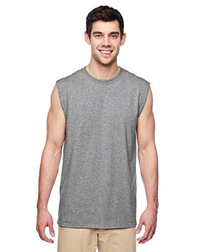 Jerzees Men's Advance Performance Sleeveless T-Shirt_Athletic Heather_Large