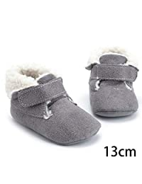 Per Newly Plus Velvet Warm Soft Bottom Toddler Shoes 0-1 Years Old New Born Baby Cotton Shoes Winter Baby Not Shoes