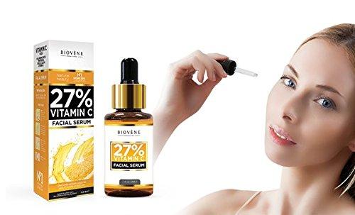 Sérum 27% Vitamina C; 30 ml, altamente dosificado; antiedad, para el rostro y la piel; con ácido hialurónico y pantenol: Amazon.es: Belleza