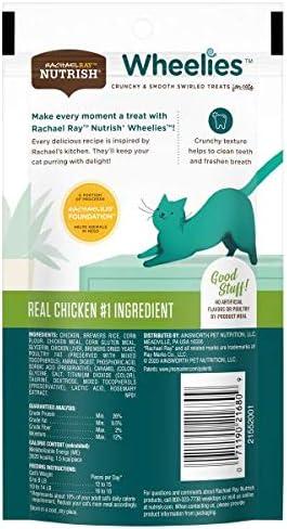 Rachael Ray Nutrish Wheelies Cat Treats, Chicken, 2.2 Ounce Bag