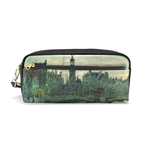 Pencil Case Pen Bag Monet's Bridge in Amsterdam Stationery Pouch Cosmetic Makeup Wristlets Bag Zipper