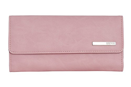 Kenneth Cole Reaction Womens Saffiano Clutch Wallet Trifold W Coin Purse (PINK BLUSH)
