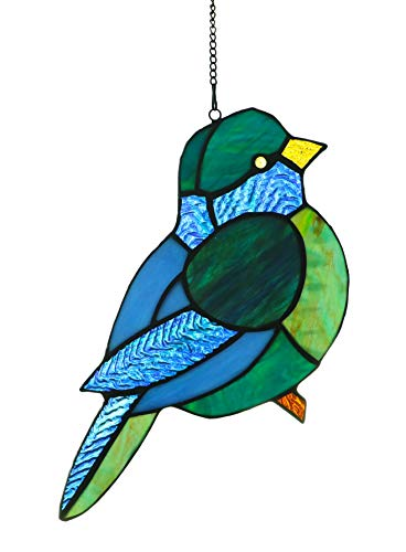 (Alivagar Ornament Stained Glass Window Hanging Suncatcher Bird TF1059, 9