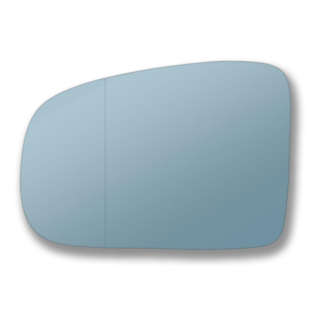 blaues Spiegelglas f/ür linke Seite Kompatibilit/ät mit Linkslenker-Fahrzeugen nicht garantiert MeML-02//05-L/_wa Weitwinkel-Ersatzau/ßenspiegelglas