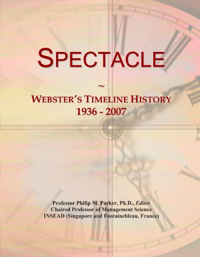 Spectacle: Webster's Timeline History, 1936 - - Spectacle Icon