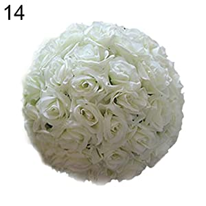 Artificial Faux Rose Ball Silk Flower Balls Hanging Ball Decor for Wedding Party Baby Shower Home Decoration qsbai 99