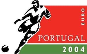 "UEFA European Cup Portugal 2004 Soccer Football Car Bumper Sticker Decal 5"" x 3"""