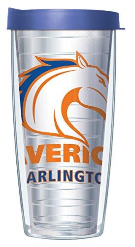 University of Texas at Arlington Large Logo Clear 22 Oz Traveler Tumbler Mug with Lid ()
