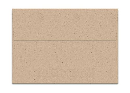 - Oatmeal Speckle Fiber A7 (5-1/4-x-7-1/4) Envelopes 50-pk - 104 GSM (28/70lb Text) PaperPapers 5X7 Invitation, Card and DIY Greeting Envelopes