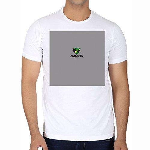Camiseta Blanca Con Cuello Redondo para los hombres - Tamaño XL - Camisa Del Fútbol De