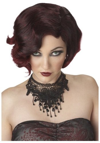 Puttin On The Ritz Costume (Puttin' On The Ritz Wig (Black/Burgundy;One Size) (Standard))