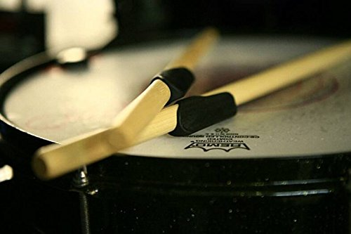 Finger Cymbals Thin - Drumstick Grips Zero Slippage Reusable Rubber Sleeves Out Performs Tape, Wrap, Wax, Dip or Gloves