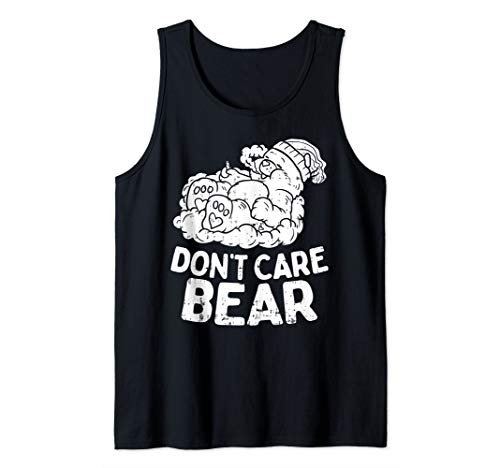 Bear Smoking Weed Funny Weed 420 Cannabis Marijuana Gift Tank Top (Bong Bear Don T Care T Shirt)