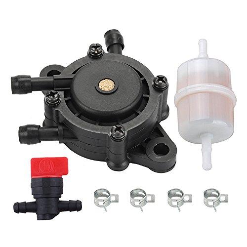 HIPA 24 393 16-S Fuel Pump + 24 050 10-S Fuel Filter for Kohler CH18-CH25 CV17-CV25 CV620-CV1000 ECV650-ECV980 SV710-SV840 17HP-25HP Engines -  HPG050-CMB023