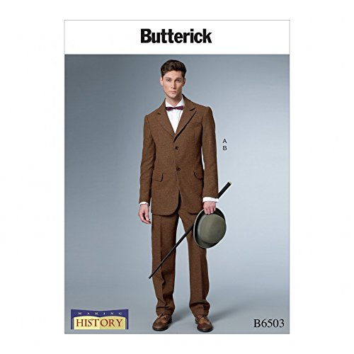 Men's Vintage Reproduction Sewing Patterns Butterick Mens Sewing Pattern 6503 Historical Costume Single Breasted Lined Coat & Pants $13.43 AT vintagedancer.com