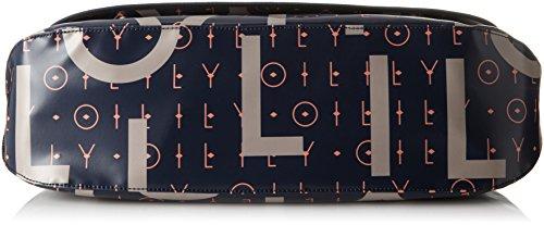 a Oilily B Borse Donna Lori Blue cm Diaperbag H T Letters x tracolla 16x30x44 Blu Lhf Dark rpxXxRnO