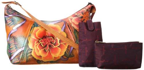 Anuschka 450 Hobo,Python Bloom,One Size - Python Hobo Handbag