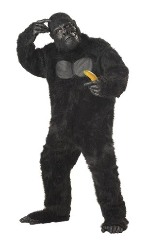 Cheap Animal Halloween Costumes (California Costumes Men's Adult-Gorilla, Black, Standard Costume)