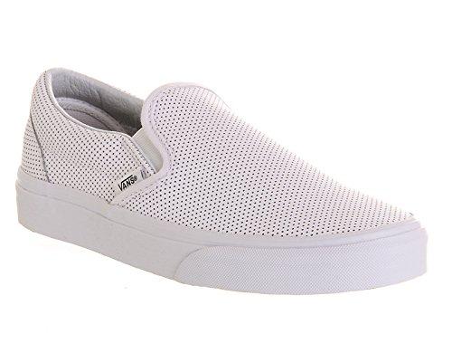 Vans Classic Slip-On - Mocasines unisex blanco - White Perf Leather