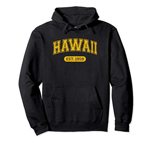 Retro School-style Hawaii 1959 Pullover Hoodie