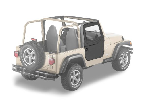 Bestop 51789-35 Black Diamond 2-piece Door Set for 1997-2006 Wrangler TJ 2-Door and Unlimited - - Half Seal Door Tj