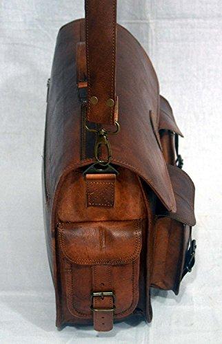38,1cm Serguio Rogetti messenger ufficio ventiquattrore design retro chic rustico in pelle di cartella