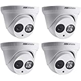 Hikvision 4MP Dome Camera DS-2CD2342WD-I 2.8mm WDR EXIR Turret IP Network Camera English Version 4 Pack
