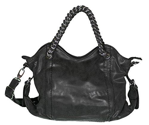 Mevina A1109 - Bolso de hombro mujer negro - negro