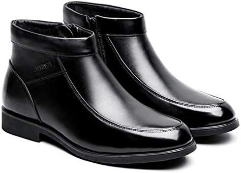 カジュアル ビジネスシューズ ブーツ メンズ ウォーキングシューズ サイドジップ 脱ぎ履きやすい ブーツ メンズ スノーブーツ 雪靴 裏起毛 綿の靴 父の日 ギフト ハイカット コンフォートシューズ 裏ボア 防寒