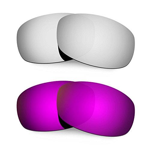 Hkuco Mens Replacement Lenses For Costa Brine Sunglasses Titanium/Purple