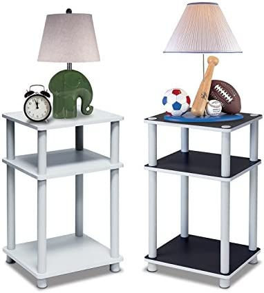 home, kitchen, furniture, living room furniture, tables,  end tables 5 image FURINNO Just 3-Tier End Table, 1-Pack deals