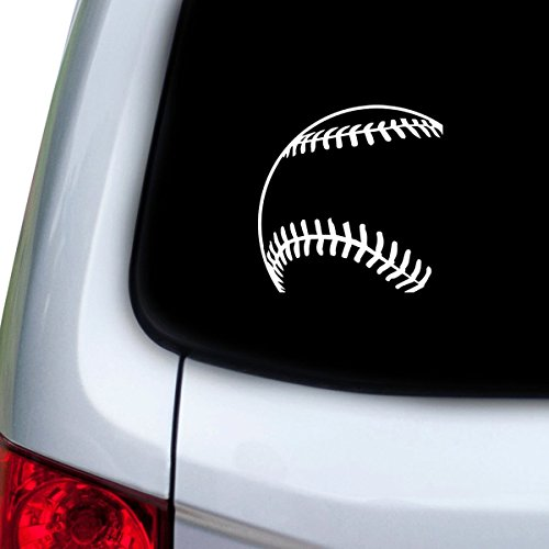 Baseball Corner - StickAny Car and Auto Decal Series Baseball Corner Sticker for Windows, Doors, Hoods (White)