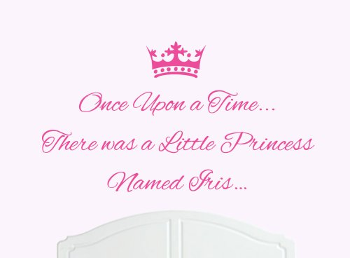 Iris Princess (Once Upon a Time Princess Iris Large Wall Sticker / Decal Bed Room Art Girl / Baby Nursery)