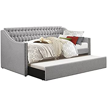 Amazon Com Homelegance Tulney Fabric Upholstered Daybed