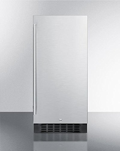 Compact Frost-Free Refrigerator with Adjustable Glass Shelves Digital Thermostat and Factory-Installed Lock: Stainless Steel Door/Black Cabinet (Frost Free Glass)