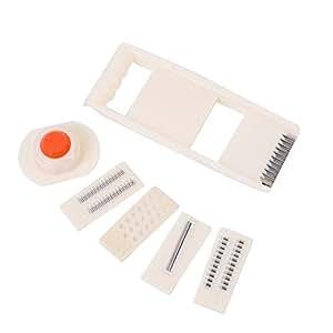 Modekini Multi-function Vegetable Peeler Slicer Set 1 Holder 5 Blades Stainless Steel
