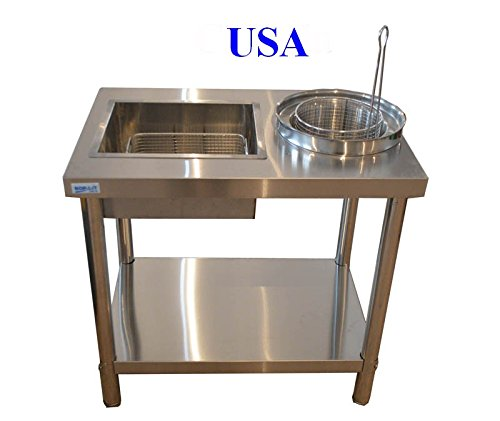Stainless Steel Fried Table by Food machine