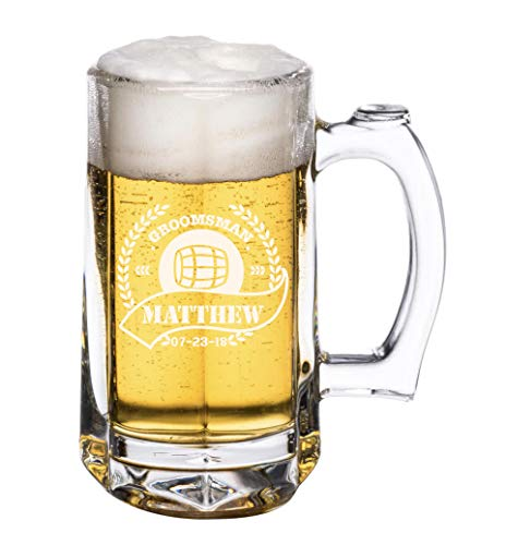 PersonalizedBeer Glass - Custom Beer Mug, Pint Glass, Pilsner Glass   Add your own Engraved Text (Beer Mug -