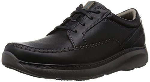 Clarks Charton Vibe, Brogue Uomo Nero (Black Leather)
