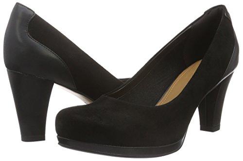 Chic De Tacón Suede Negro black Zapatos Mujer Clarks Chorus Pq5xHawH