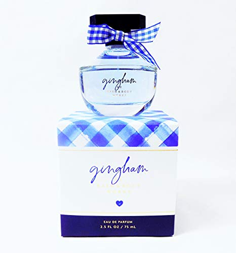 Bath and Body Works Eu De Parfum In New Gingham Scent 2.5 Oz. Scented with Fressia, Peach, Clementine, Violet, Musk. Perfume