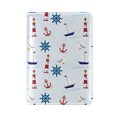 Travel Pocket COOSUNNautical Reisepasshülle Leder für One Anchor xUPTq0