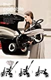 QPlay Rito 3 in 1 Compact Foldable Trike/Tricycle Child with Canopy and Push Handle Bar - Grey