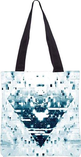 Snoogg explodierenden Mosaik 2627 13,5 x 15 Zoll-Shopping-Dienstprogramm-Einkaufstasche aus Polyester-Segeltuch gemacht