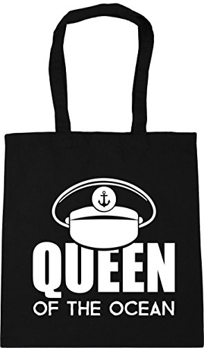 Tote Gym Shopping the Bag 10 Queen x38cm litres of Black 42cm Beach ocean HippoWarehouse w6XqIYHB