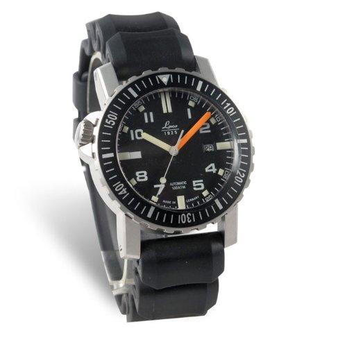 Laco 861704 - Reloj analógico automático para hombre, correa de goma color negro