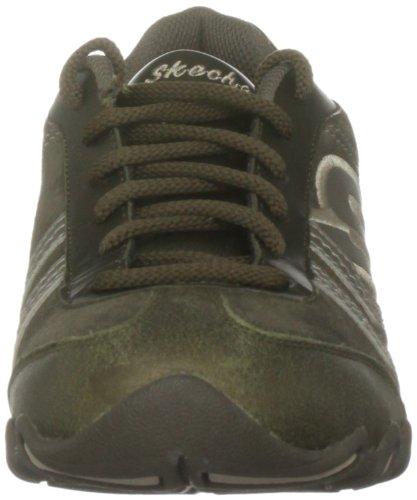 Zapatos Skechers de para Grün de Verde cuero Oliv mujer cordones U4qwdZnq